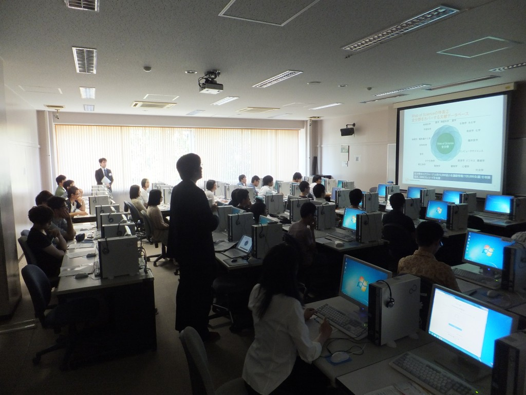 2014年「Web of Science講習会」の様子1