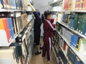 書庫の図書整理